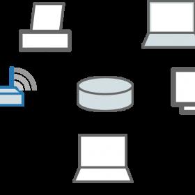 ein einfaches privates Netzwerk in dem mehrere Rechner zusammengeschlossen sind